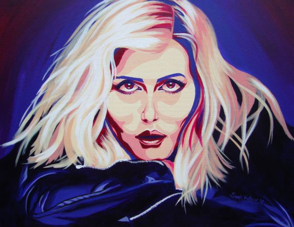 debbie harry, debbie harry painting, blondie painting, sarah kellner art, sarah kellner