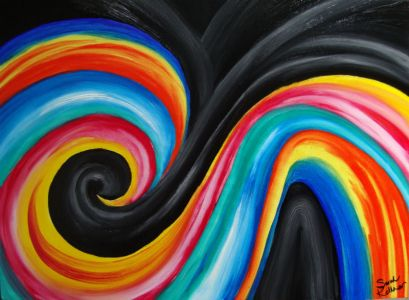 colorful abstract painting, colorful abstract paintings, swirly colors